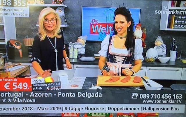 ACARINA LIVE in der WELTBILD Kochshow auf Sonnenklar.TV