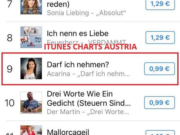 Itunes Charts Austria - Acarina Darf ich nehmen